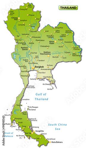 Thailand Karte.Karte Von Thailand Buy This Stock Vector And Explore Similar