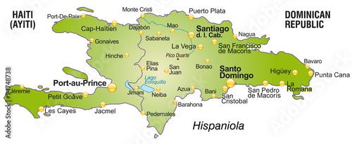 Photo  Karte von Hispaniola