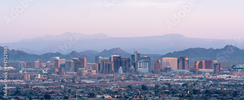 Canvas Prints Arizona Phoenix Arizona Skyline Panorama