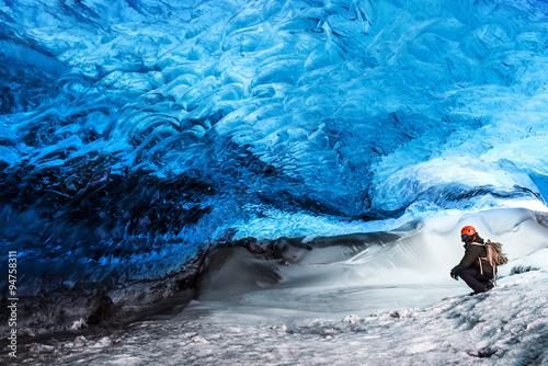 Fototapeta Glacier ice cave of Iceland
