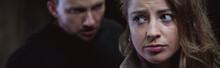 Aggressive Man Stalking Scared Girl