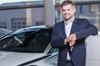 Happy car dealership client