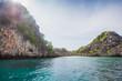 Blue lagoon idyllic view of beautiful