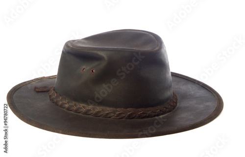 australian akubra ;leather hat Canvas Print