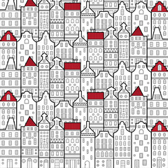 FototapetaAmsterdam houses style pattern