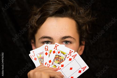 Fotografie, Obraz  Pokerface