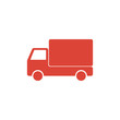 Truck icon. Flat design style.