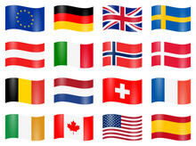 Swung Country Flags