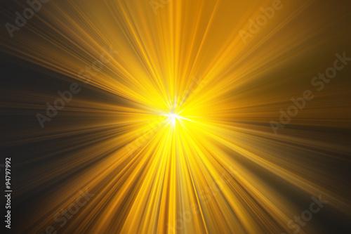 Fotografie, Obraz  Esplosione di luce gialla