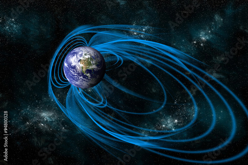 Valokuvatapetti The Magnetosphere that Surrounds the planet Earth - Elements of this image furnished by NASA