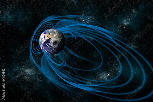 The Magnetosphere that Surrounds the planet Earth - Elements of this image furnished by NASA Canvas-taulu