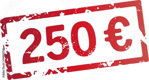 Fotografia  stempel 250 Euro