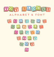 Alphabet Blocks Baby Blocks Fo...