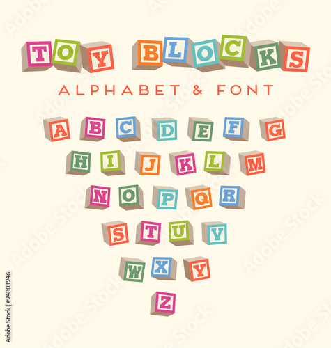 alphabet blocks baby blocks font Wallpaper Mural