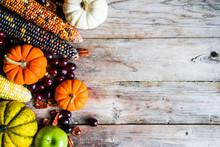 Pumpkins,corn,apples,nuts And ...
