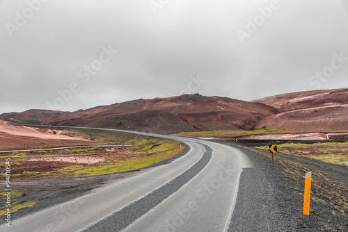 Papiers peints Route 66 Icelandic natural volcanic landscape, summer time