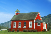 Red, One-room Schoolhouse, Sto...