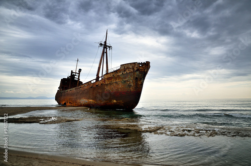 Failure concept, shipwreck Canvas Print