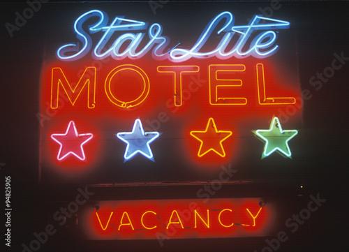 Neon sign, Star Lite Motel in the Catskills, NY