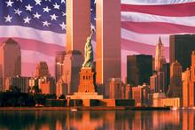Digital Composite: New York Sk...