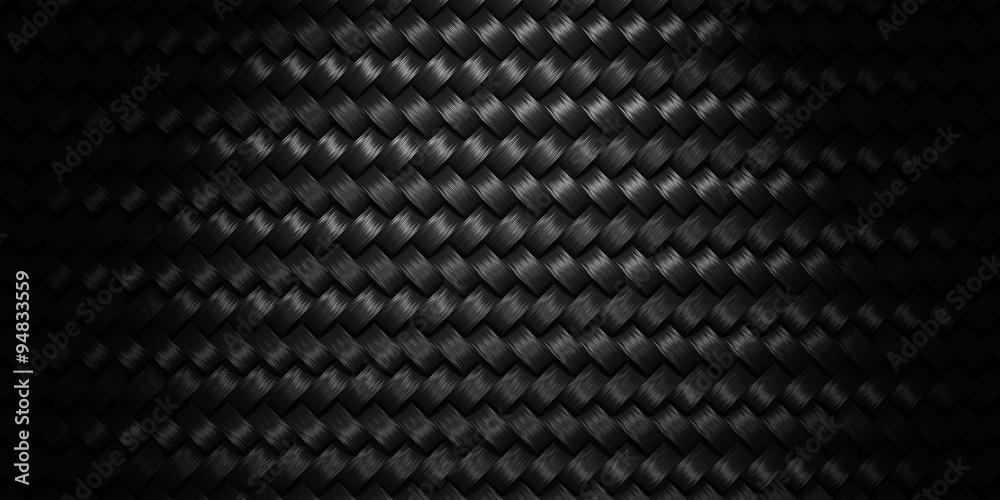 Fototapety, obrazy: Black Woven texture background
