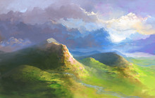 Green English Landscape