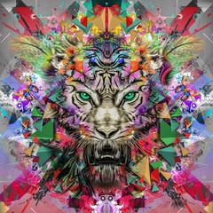 Fototapeta Iluzja тигр