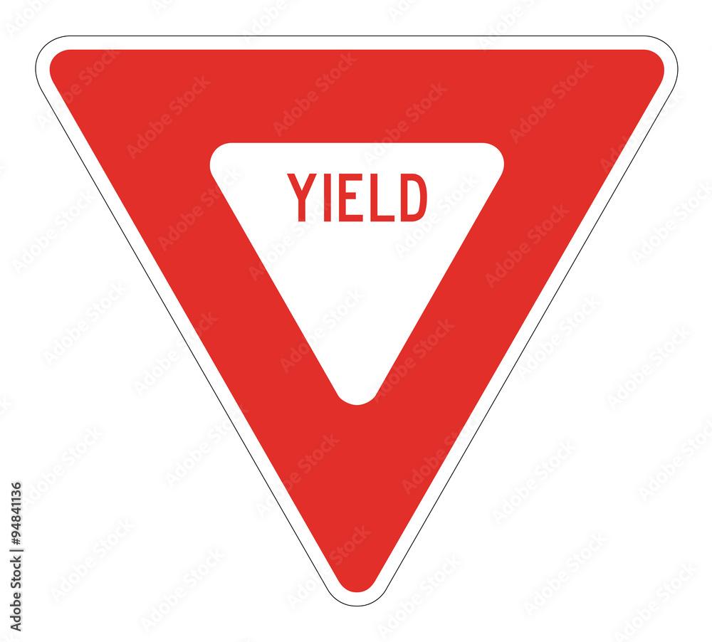 Fototapety, obrazy: Yield Sign
