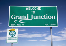 Welcome To Grand Junction, Colorado, USA, 07.10.2014