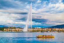 City Of Geneva With Famous Jet...
