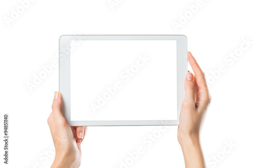 Fotografia  Hands holding digital tablet