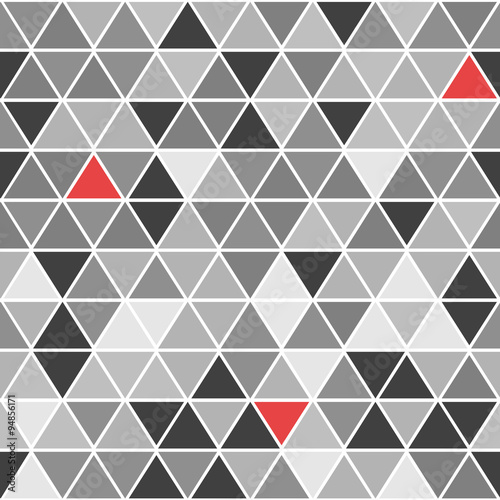 Fotografie, Obraz  Geometrical vector seamless pattern with triangles