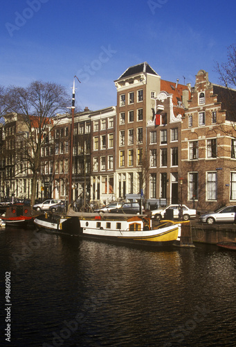 Fotografie, Obraz  Canals and houseboats in Amsterdam, Holland