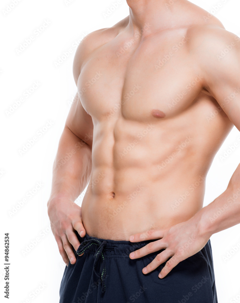 Photo Art Print Handsome Man With Perfect Muscular Torso