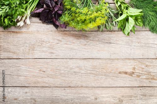 Fototapeta Fresh garden herbs obraz