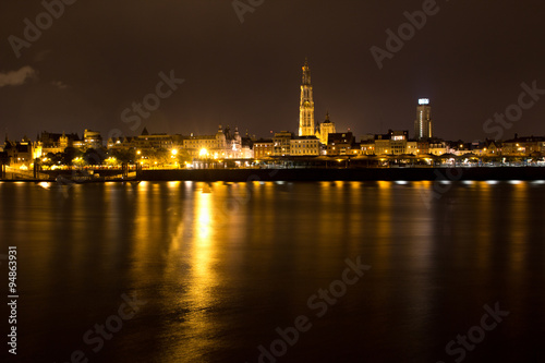 Papiers peints Paris Antwerpen bei Nacht