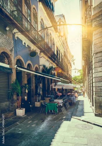 obraz PCV Old street of Centro in Rio de Janeiro. Brazil