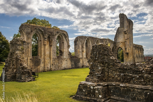 Poster Ruine ruins of Glastonbury Abbey, Somerset, England