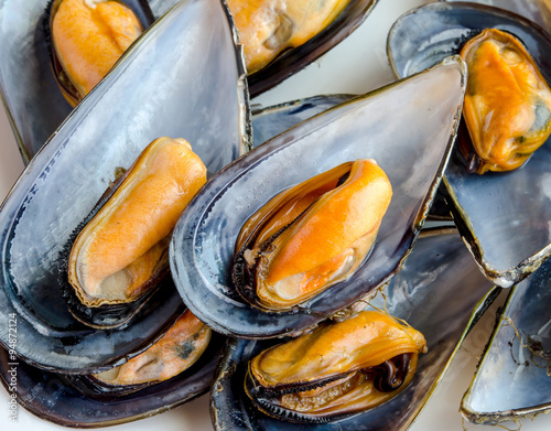 Fotografie, Tablou  Mussels in the shell