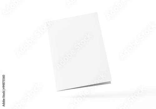 Fotografia, Obraz  Flyer Broschüre gefalten weiss A4 A5
