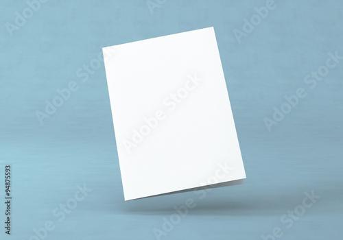 Photo  Flyer Broschüre gefalten weiss A4 A5