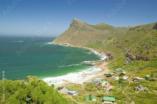 Fényképezés  Cape of Good Hope view of coast with small houses, outside of Cape Town, South A