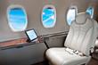 Business Jet airplane interior
