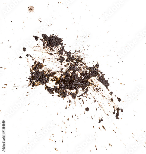 Mud splat pattern isolated on a white background Wall mural