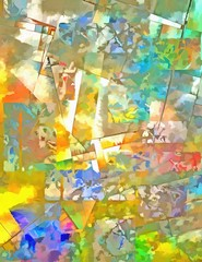 Panel Szklany Abstrakcja Colorful Abstract