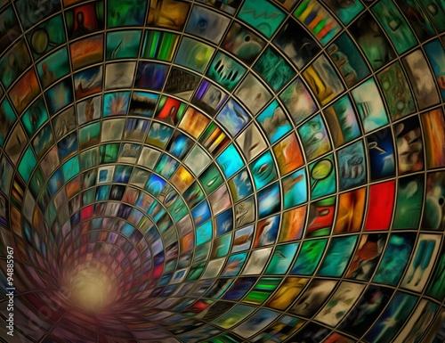 Plakat Tunel obrazów Ten obraz jest całkowicie moim własnym dziełem, pochodzącym z moich własnych obrazów i jest legalny dla mnie do sprzedaży i dystrybucji