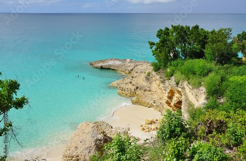 Beautiful Meads Bay Beach in Anguilla Wallpaper Mural