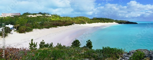 Beautiful Horseshoe Bay beach in Southampton, Bermuda Canvas Print