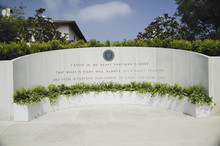 Memorial With Reagan Quotation...