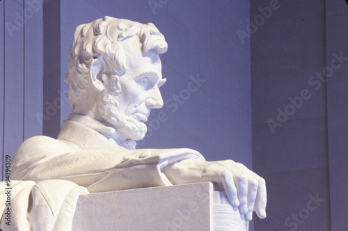 Photo  Close up of the Lincoln Memorial sculpture, Washington, DC